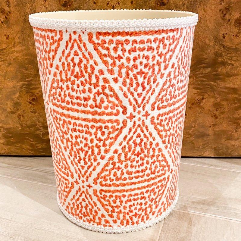 Jan Sevadjian Madrid Orange Wastebasket