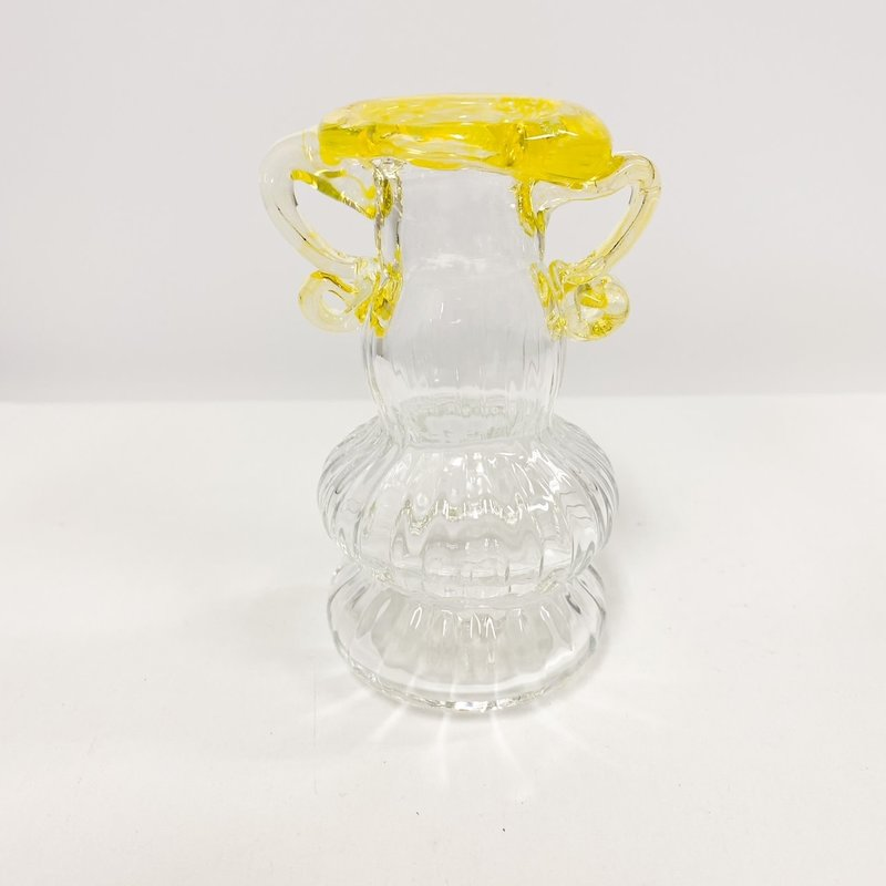 Ridge Walker Glass Yellow Glass Bud Vase