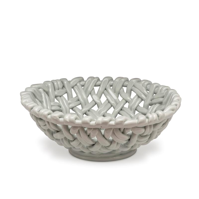 Skyros Designs Round Basket Sheer Blue