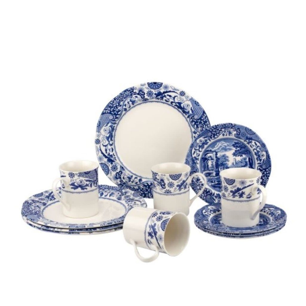 Portmeirion Spode Blue Italian Brocato 12 Piece Set