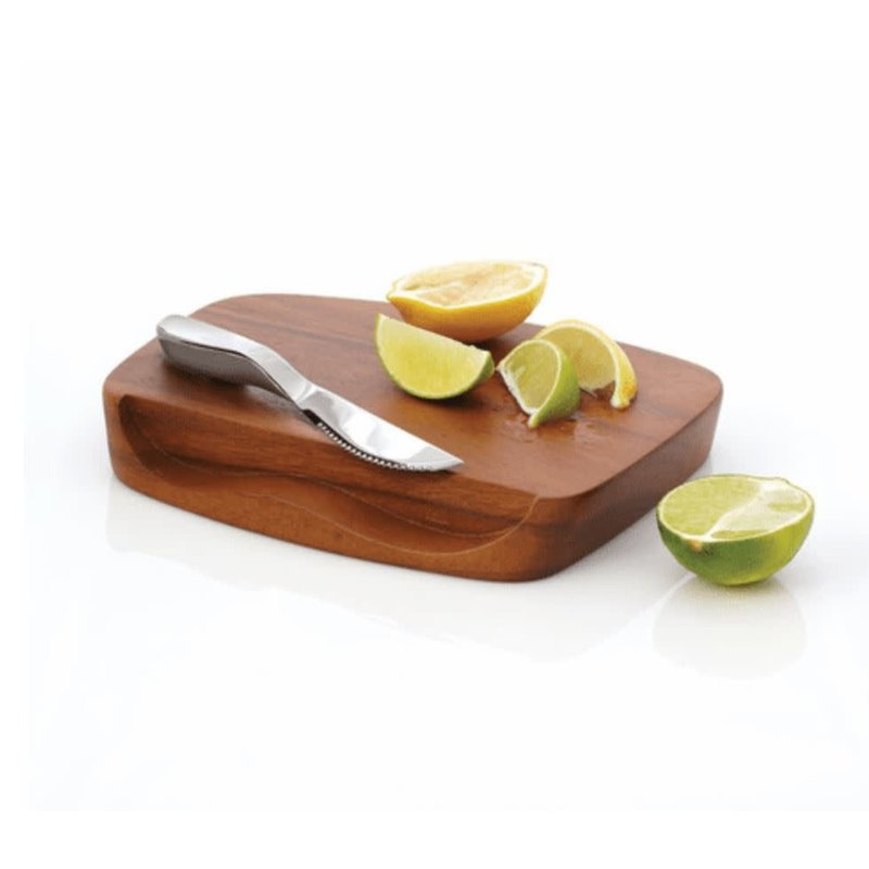 Nambe Blended Bar Board w/Knife