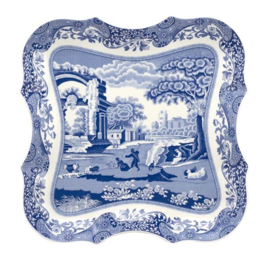 Portmeirion Spode Blue Italian 14 Inch Devonia Tray