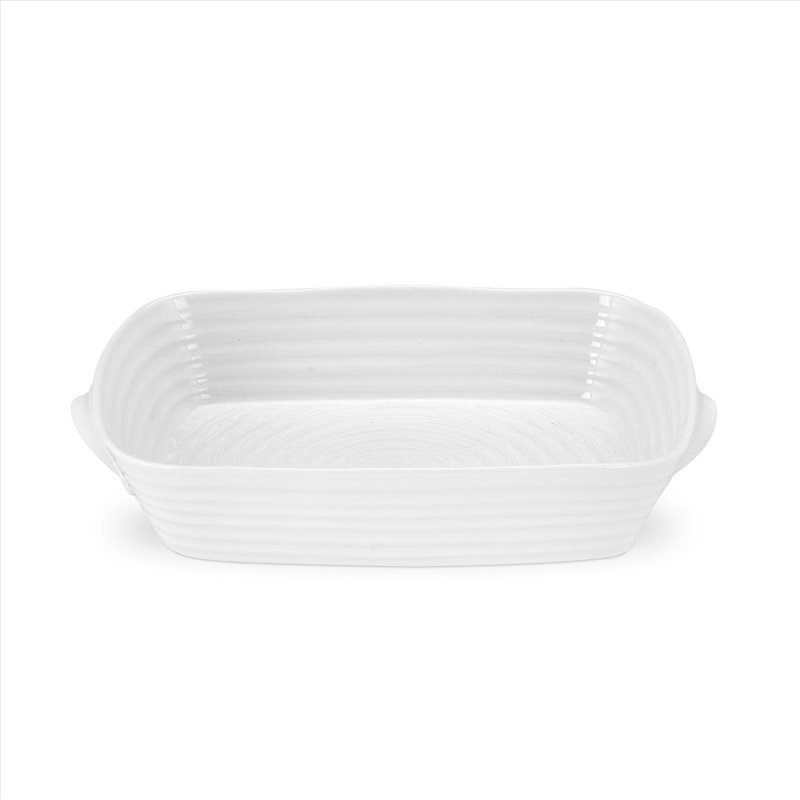 Sophie Conran Sophie Conran White Small Handle Rectangle Dish 10.75''