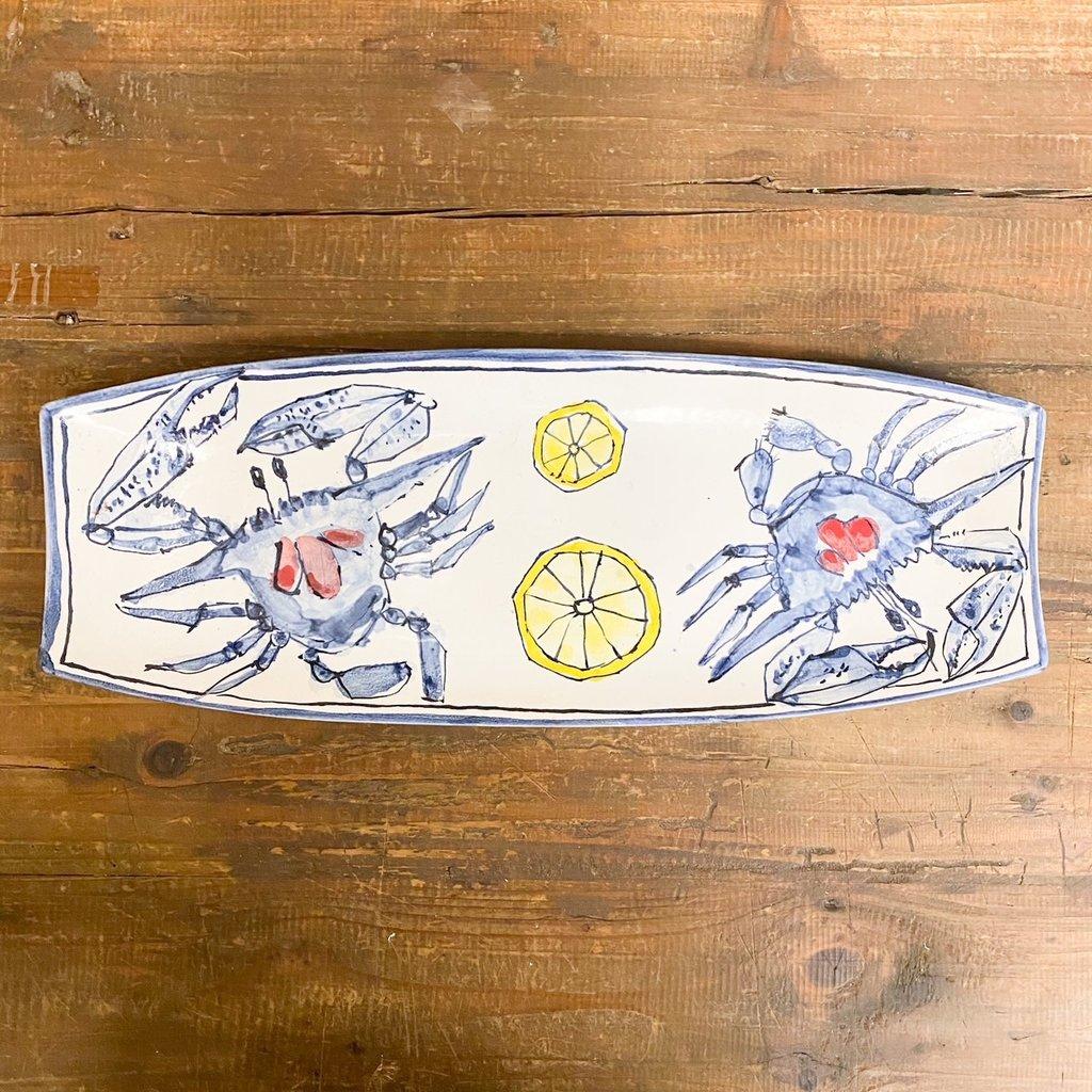 Steve Hasslock Rectangle Crab Platter