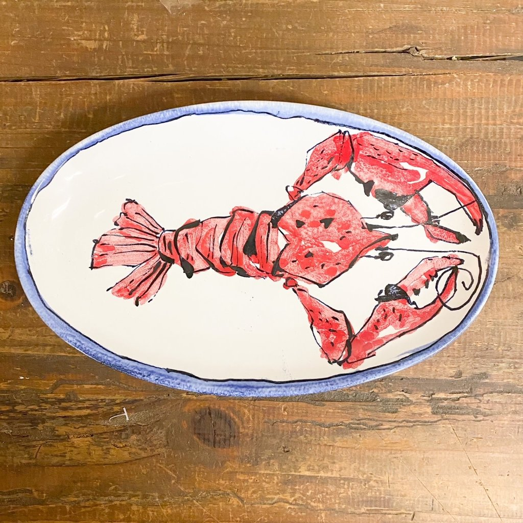 Steve Hasslock Small Oval Plate Crawfish