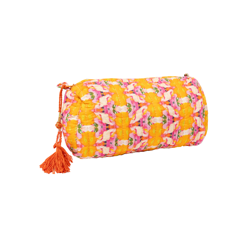 Laura Park Flower Child Marigold Quilted Cosmetic Bag Small