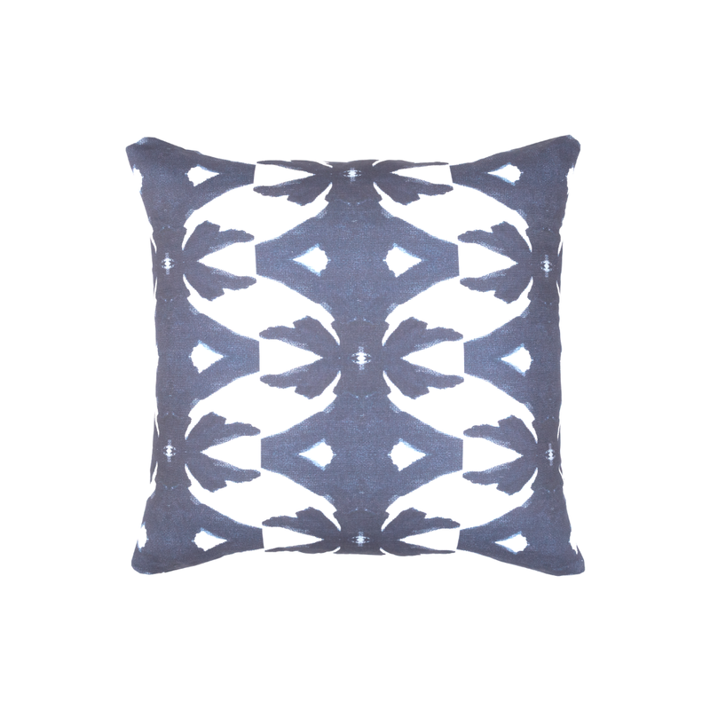 Laura Park Palm Navy Sunbrella Pillow 22 x 22