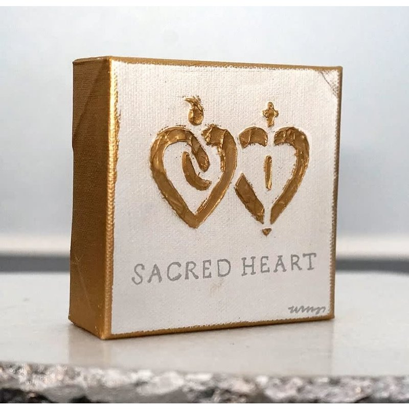 Art Gumbo Sacred Heart Mini Painting