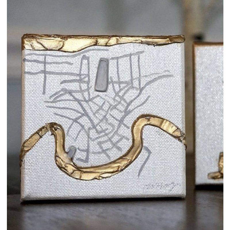 Art Gumbo NOLA Map Mini Painting