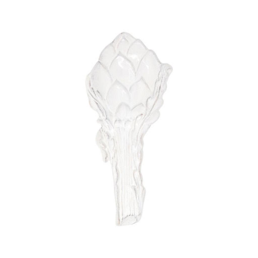 Vietri Artichokes White Figural Artichoke Spoon Rest