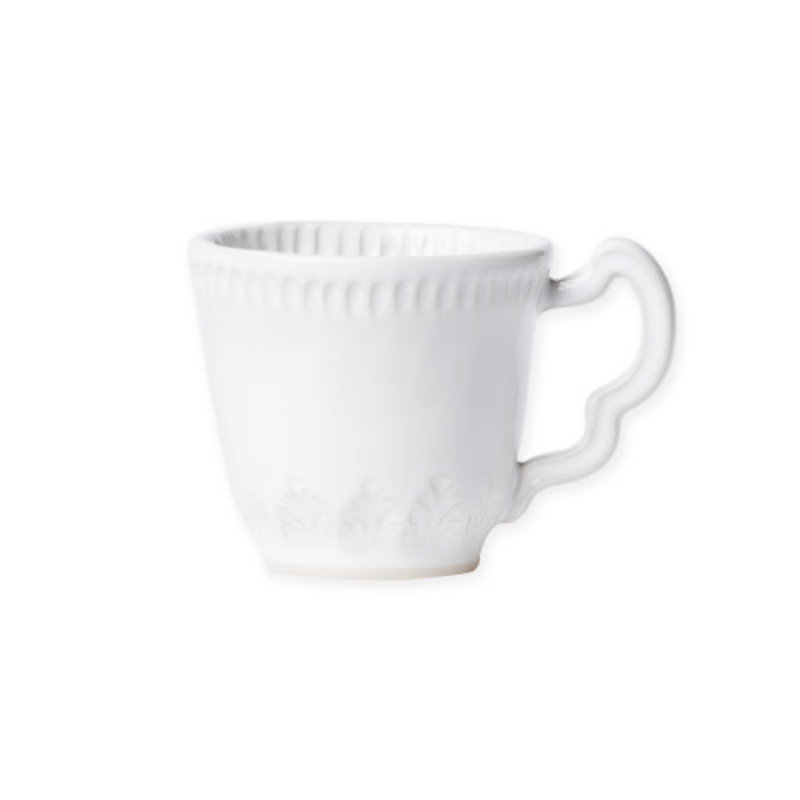 Vietri Incanto Stone White Leaf Mug