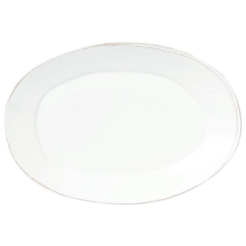 Vietri Melamine Lastra White Oval Platter