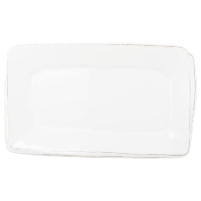 Vietri Melamine Lastra White Rectangular Platter