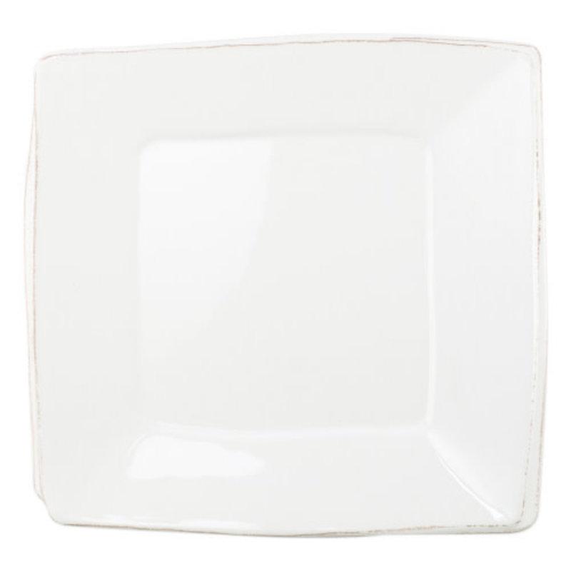 Vietri Melamine Lastra White Square Platter