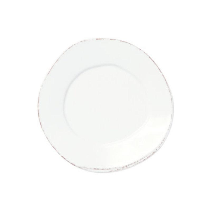 Vietri Melamine Lastra White Salad Plate