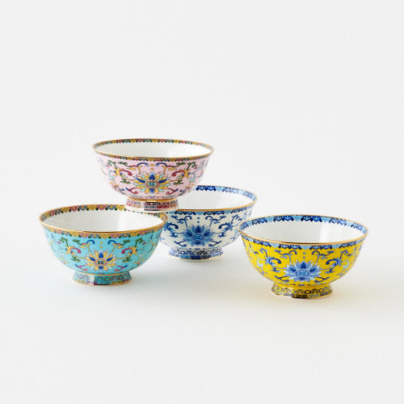 One Hundred 80 Degrees Handmade/Handpainted Porcelain Bowl