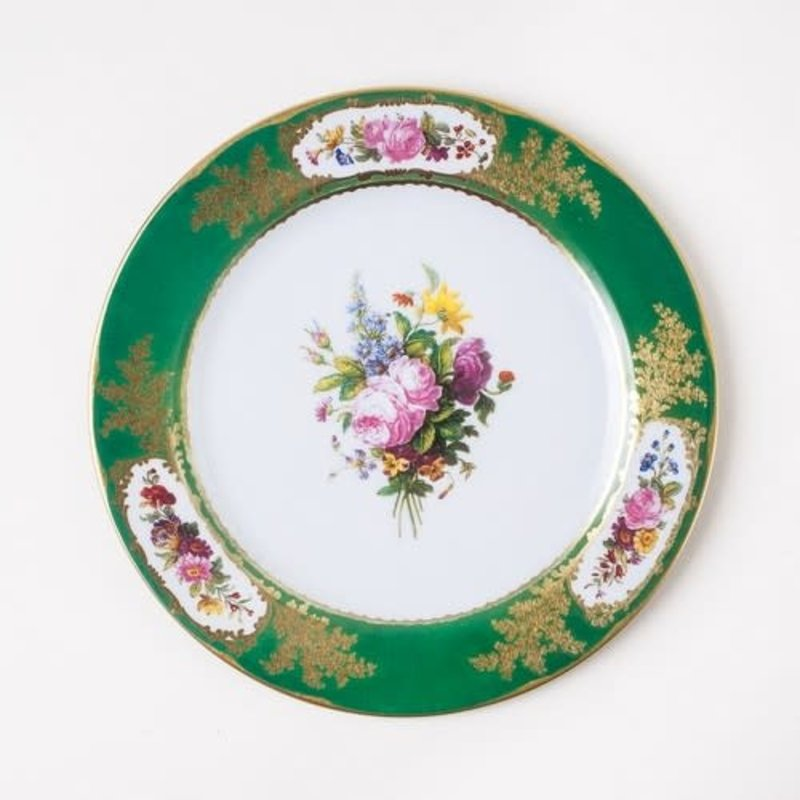 One Hundred 80 Degrees Sevres Green Tin Plate 10''