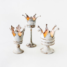 One Hundred 80 Degrees Crown Candle Holder