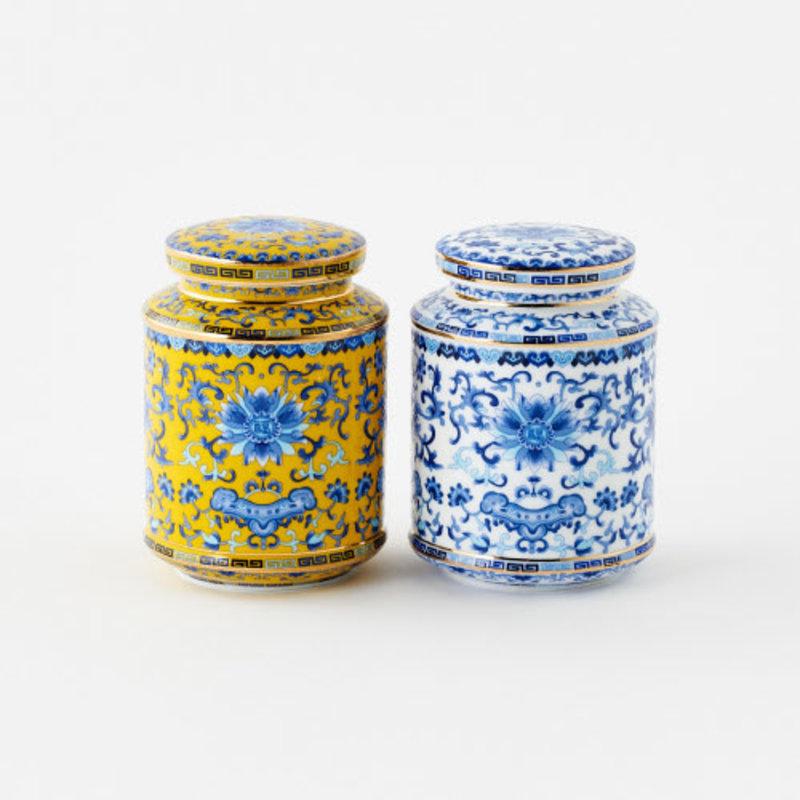 One Hundred 80 Degrees Tea Canister Handmade/Handpainted 5.5''