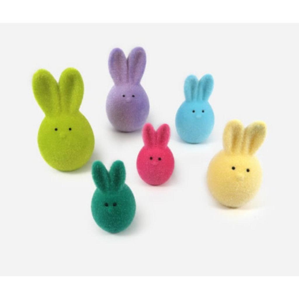 One Hundred 80 Degrees Fuzzy Peep Bunny Egg Lg.
