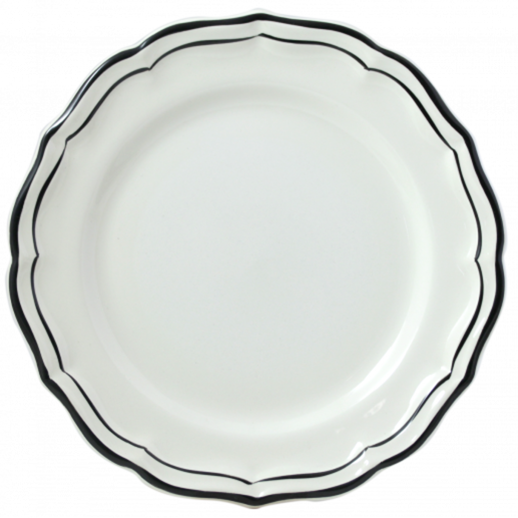 Gien Canape Plate Filet Manganese