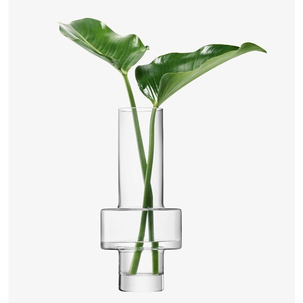 "LSA Metropole Bratislava Vase 15.75"" Clear"