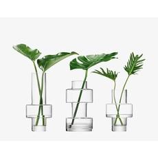 LSA Metropole City Vase Set of 3 Clear