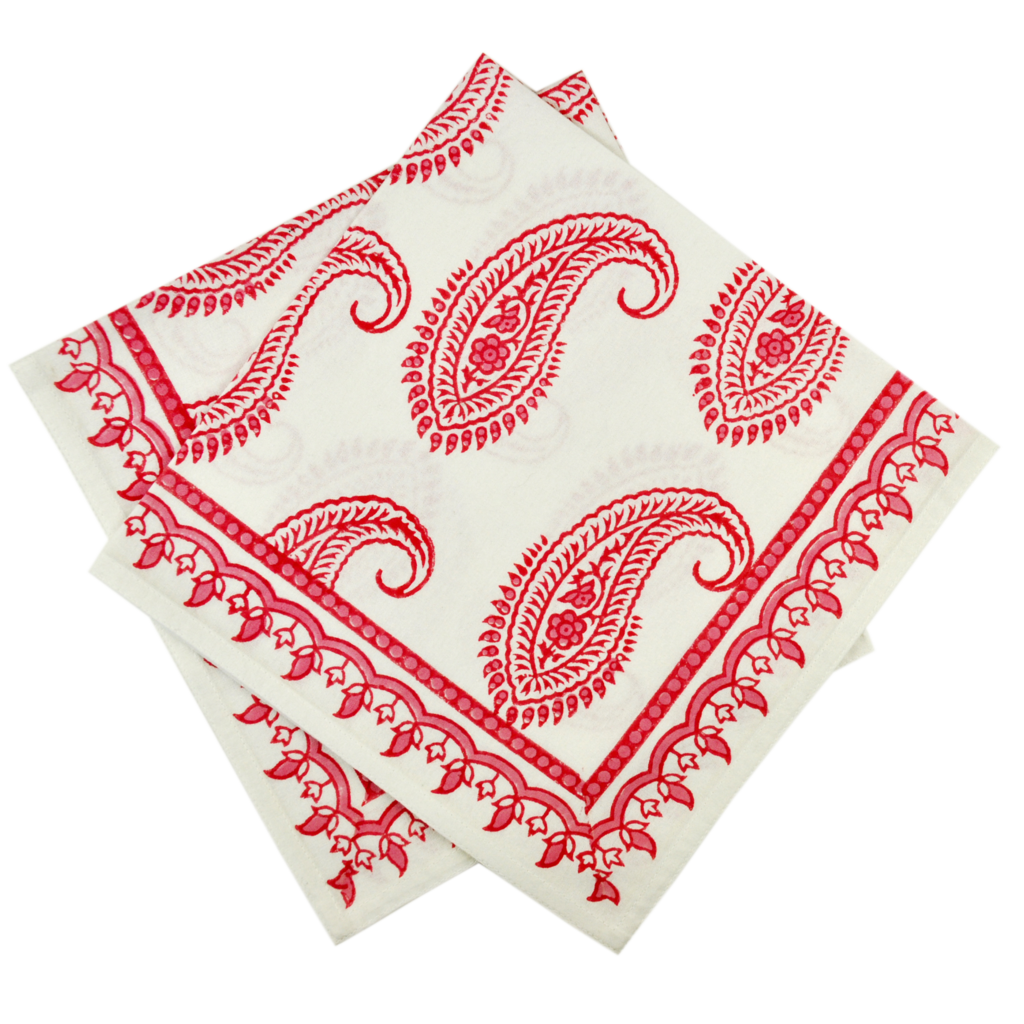 Pacific & Rose Textiles Block Prink Napkins