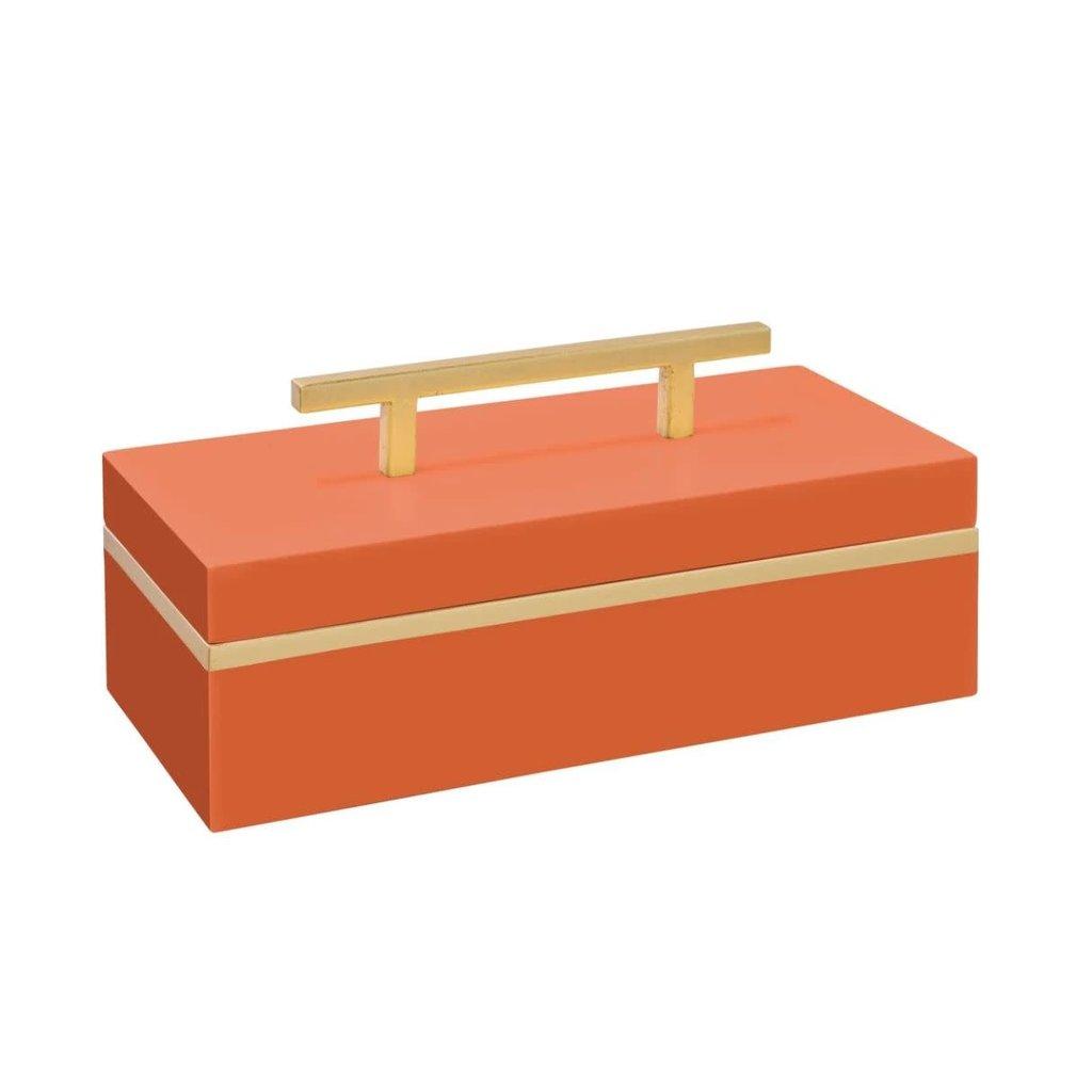 "Couture Lamps Blair Box Orange 13""x6""x4"""