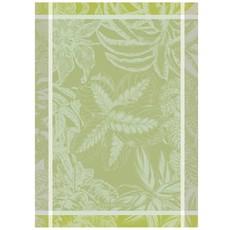 """Garnier Thiebaut Alocasias Vert Opaline Kitchen Towel 22""""x30"""", 100% Cotton"""