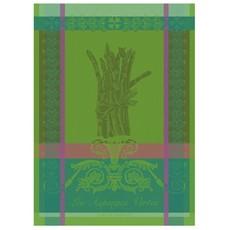 """Garnier Thiebaut Asperges Vertes Gazon Kitchen Towel 22""""x30"""", 100% Cotton"""
