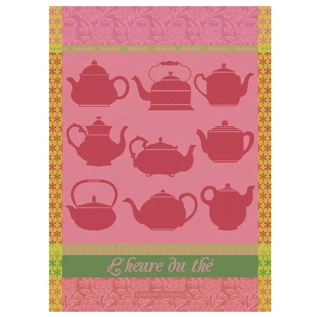 """Garnier Thiebaut Heure Du The Rose Kitchen Towel 22""""x30"""", 100% Cotton"""