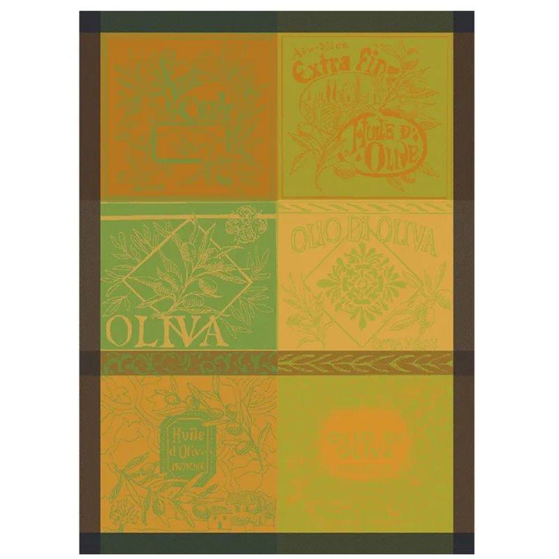 """Garnier Thiebaut Olives Vintage Nature Kitchen Towel 22""""x30"""", 100% Cotton"""