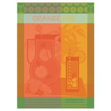 """Garnier Thiebaut Orangeade Maison Agrume Kitchen Towel 22""""x30"""", 100% Cotton"""
