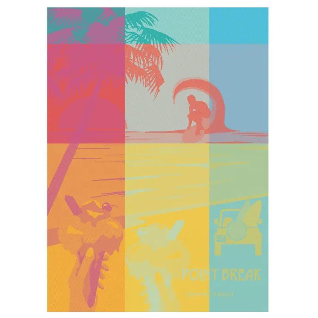 """Garnier Thiebaut Point Break Sunrise Kitchen Towel 22""""x30"""", 100% Cotton"""
