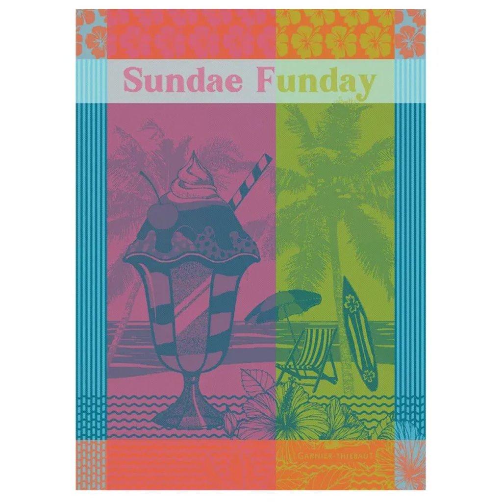 """Garnier Thiebaut Sundae Funday Fruity Kitchen Towel 22""""x30"""", 100% Cotton"""