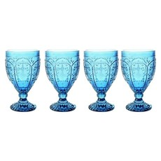 Fitz and Floyd Fitz and Floyd 12oz Indigo Goblet, Set of 4