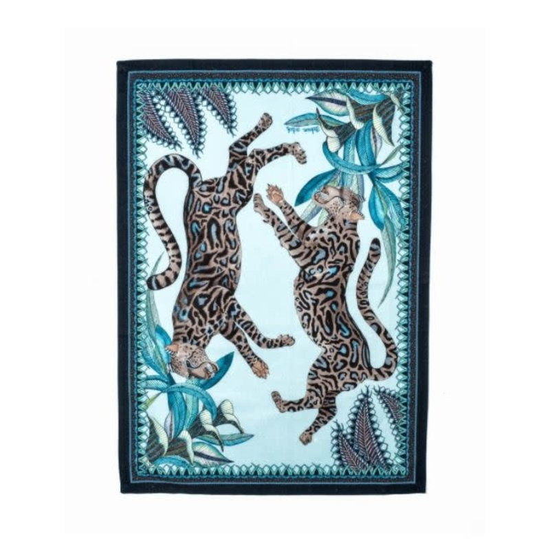Ngala Trading Cheetah Kings Tea Towel-Tanzanite