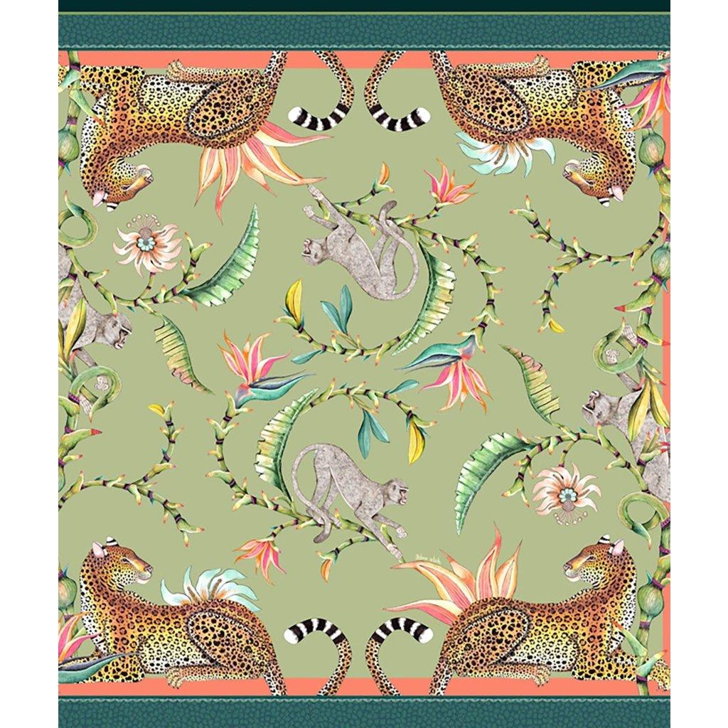 Ngala Trading Monkey Paradise Tablecloth- Delta 80'' x 80''