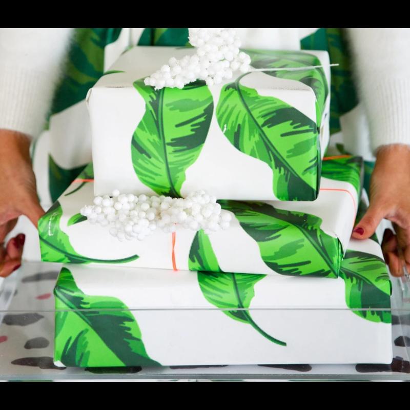Katie Kime Banana Leaves Gift Wrap