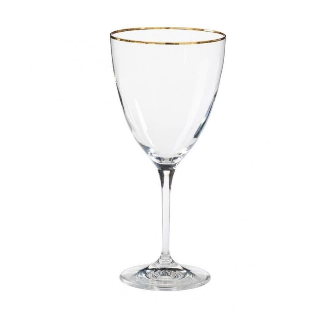 Casafina WATER GLASS W/ GOLDEN RIM 14 OZ. SENSA