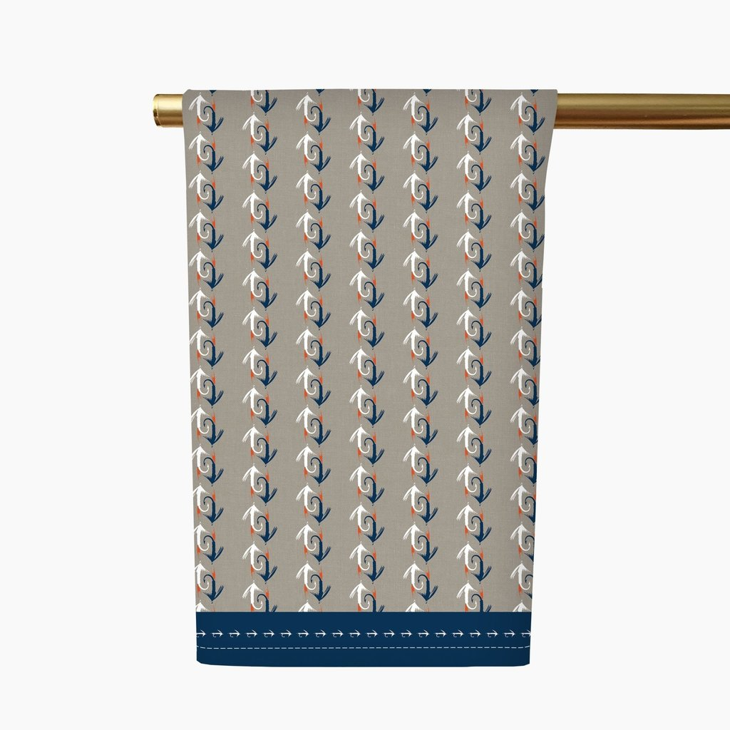 Honey and Hank Fly Fishing Tea Towel