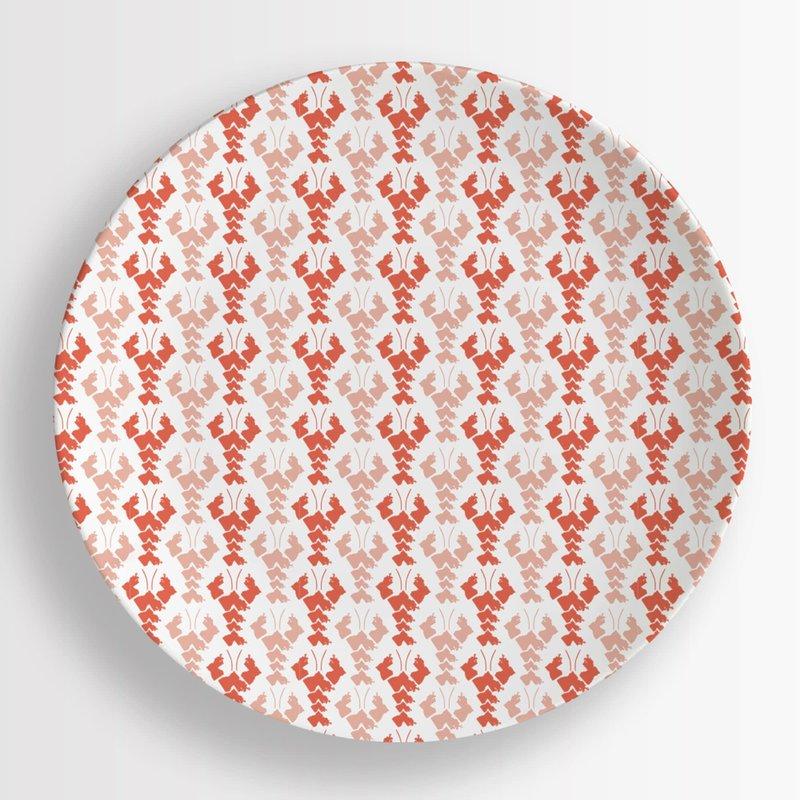 Honey and Hank Louisiana Crawfish Melamine Dinner Plates Set of 4