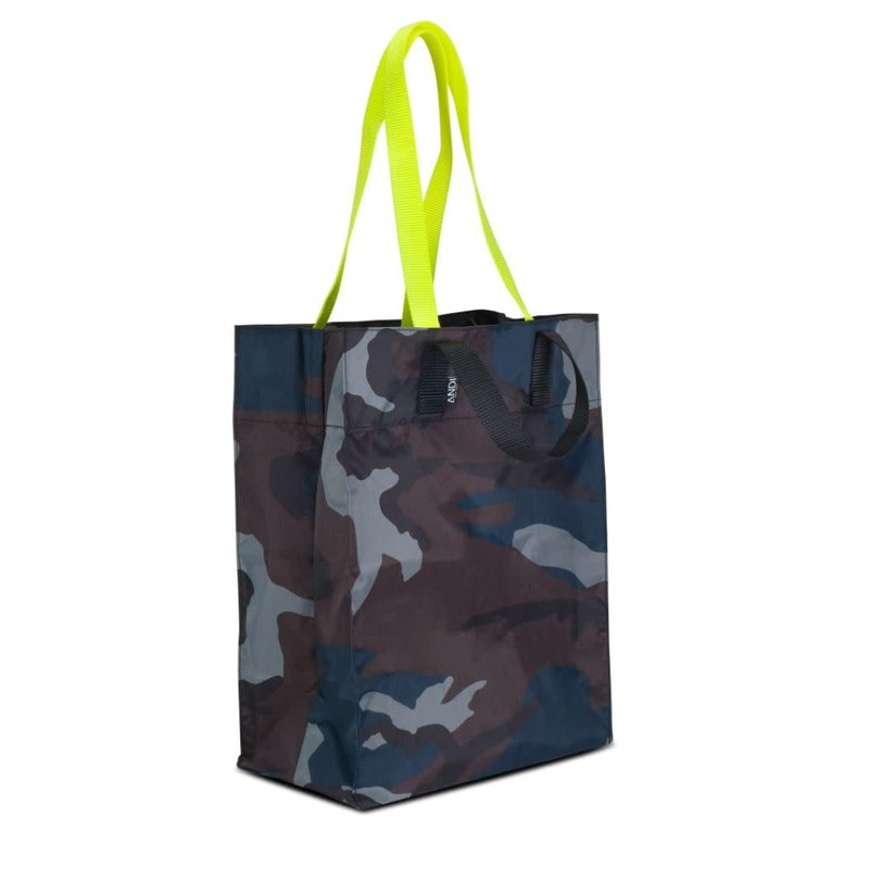 Andi Origami Tote Ink Camo Pop Yellow