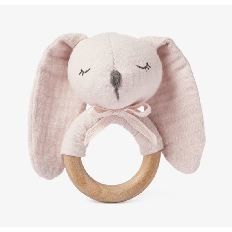 Elegant Baby Bunny Rattle