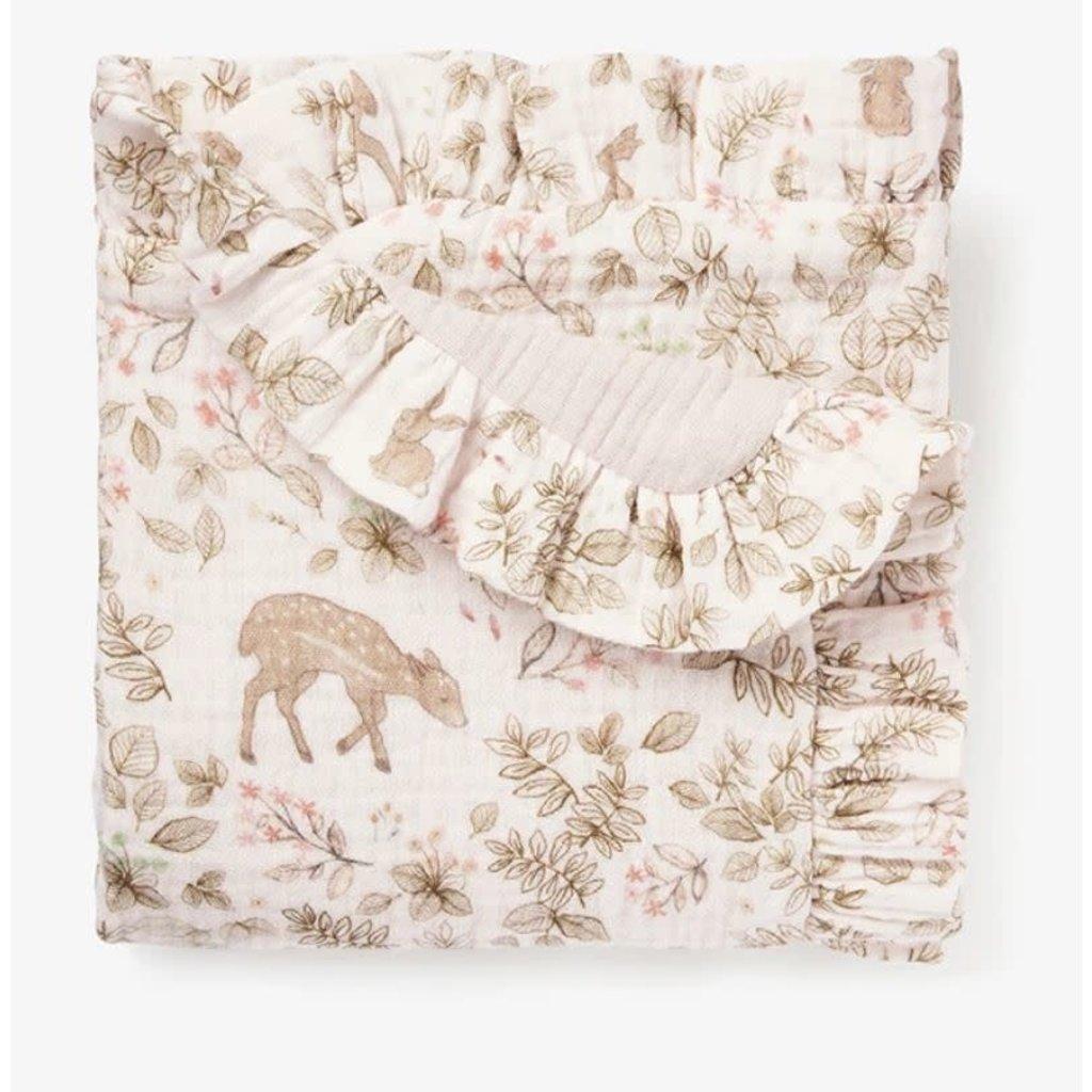 Elegant Baby Bunny Print Blankie