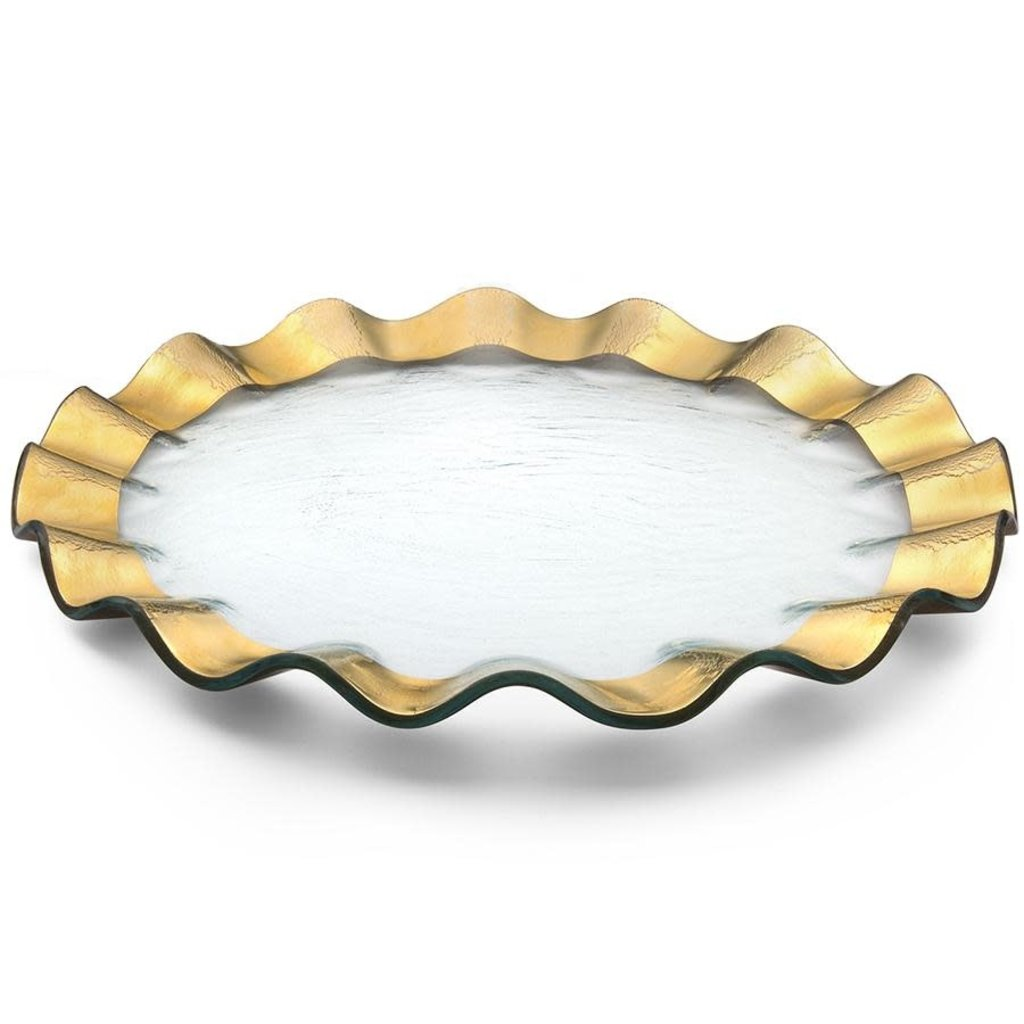 Annie Glass 13'' Ruffle Buffet Plate