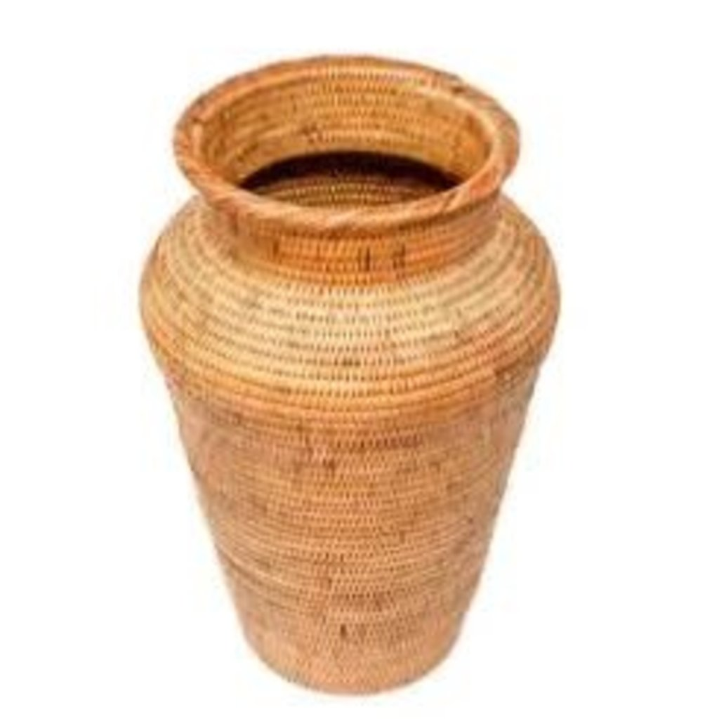 Poppy + Sage Honey Rattan Decor Vase