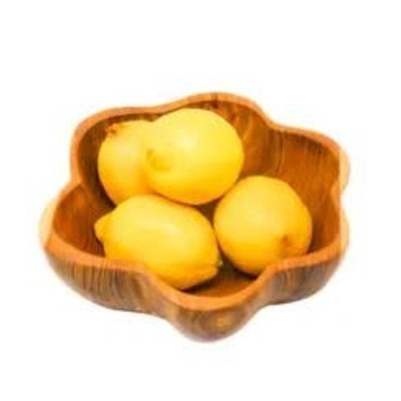 Poppy + Sage Ruffle Teak Bowl - Regular Size