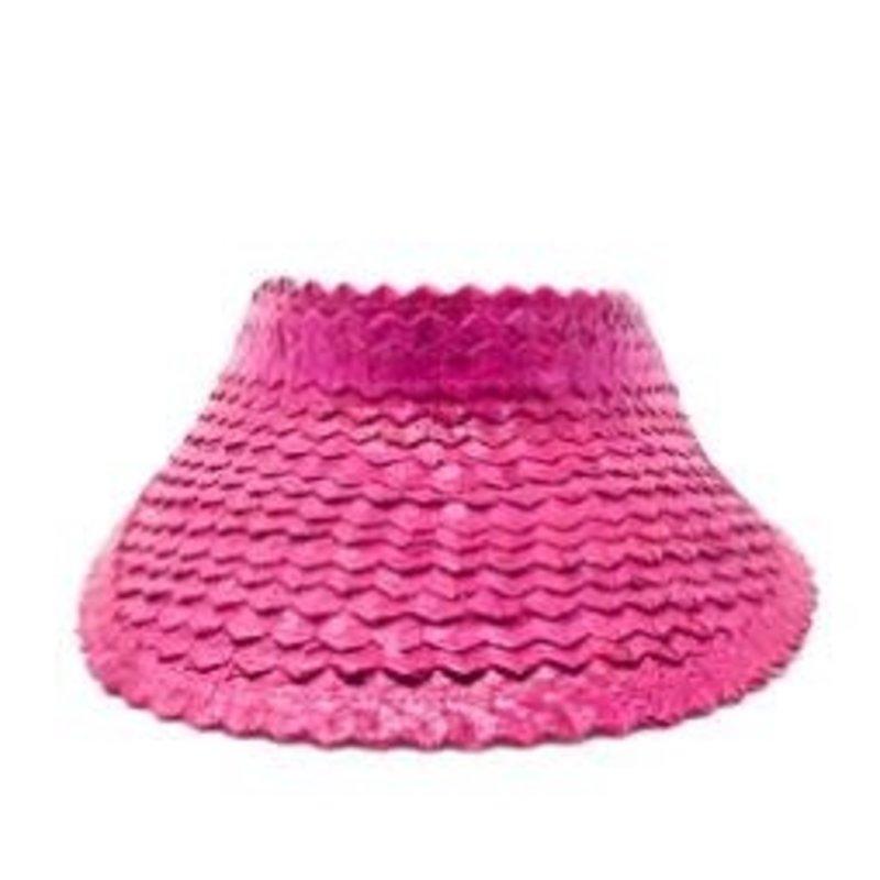 Poppy + Sage Straw Visor - Azalea Pink